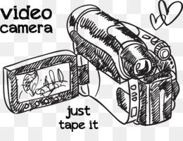 El Micrófono De La Cámara De Vídeo De Dibujo Dibujado A