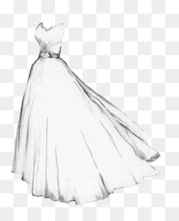 Dibujo De Vestido De Novia Vestido De Croquis Blanco De La