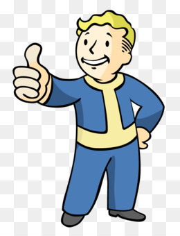 Fallout Vault Boy in Red Circle with Thumbs Up Decal//Sticker