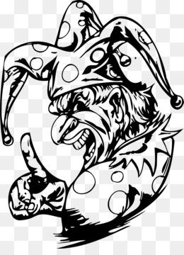 Payaso Malvado Dibujo Para Colorear Libro El Joker