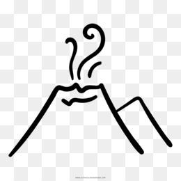 Eldgos Descarga Gratuita De Png Volcán Dibujo Para