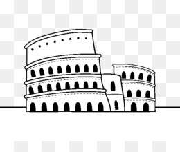 Coliseo Dibujo La Antigua Roma Imagen Png Imagen Transparente