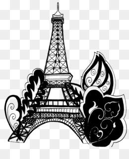 Torre Eiffel Para Colorear Libro De Dibujo De Imagen